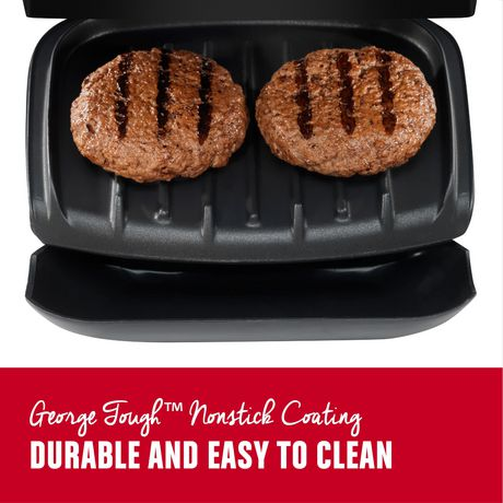 George Foreman 2-serving electric indoor grill and panini press - image 6 of 9