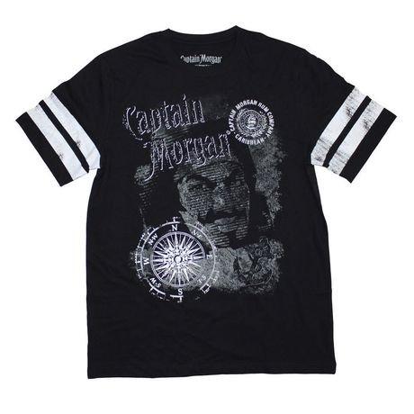 captain morgan men 39 s 14c6t0037 42 printed short sleeve t shirt. Black Bedroom Furniture Sets. Home Design Ideas