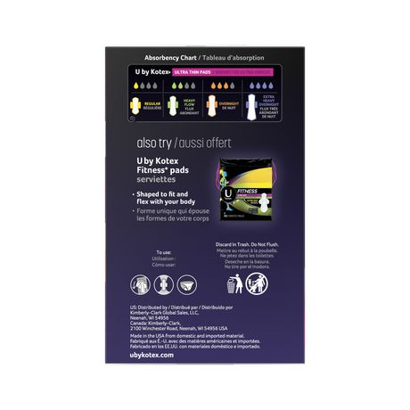 U by Kotex AllNighter Ultra Thin Overnight Pads with Wings, Fragrance-Free, 28 Count - image 3 of 3