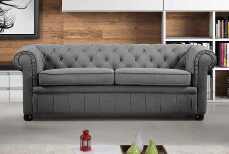 canap en tissu velago de la collection avignon en gris fonc walmart canada. Black Bedroom Furniture Sets. Home Design Ideas