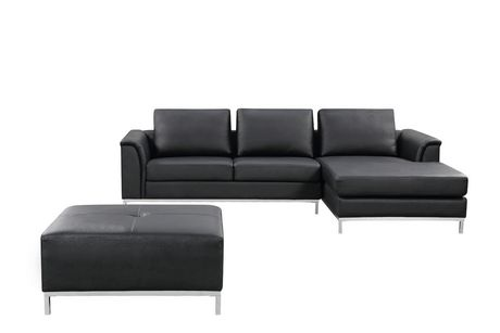 Velago Ollon Modern Right Facing Genuine Leather Sectional