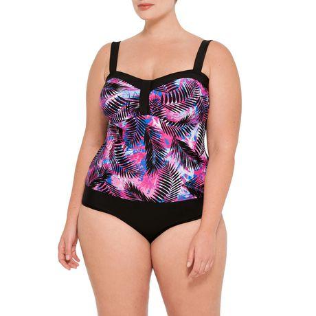Krista Plus 1pc Swimsuit - image 1 of 2