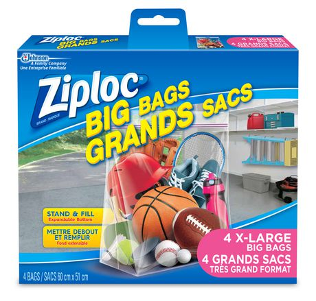 Ziploc Big Bags Storage Bags Extra Large, 4 Bags - image 1 of 1