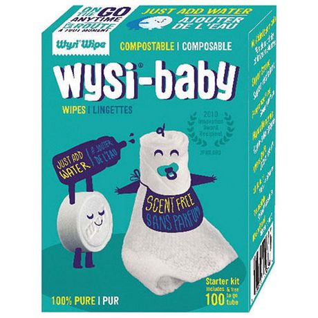 Lingettes compostables Wysi-Wipes Wipe Paquet de 100 - image 1 de 1