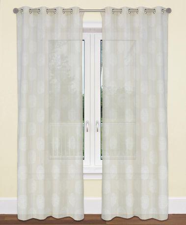 "LJ Home Fashions Donna Linen Vintage Floral Grommet Curtain Panel Set, 54""W x 95""L - image 1 of 3"