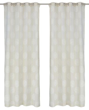 "LJ Home Fashions Donna Linen Vintage Floral Grommet Curtain Panel Set, 54""W x 95""L - image 2 of 3"