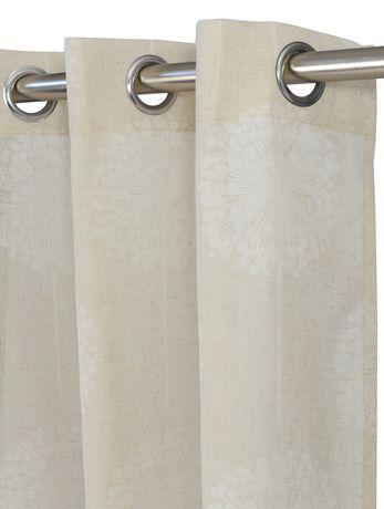 "LJ Home Fashions Donna Linen Vintage Floral Grommet Curtain Panel Set, 54""W x 95""L - image 3 of 3"