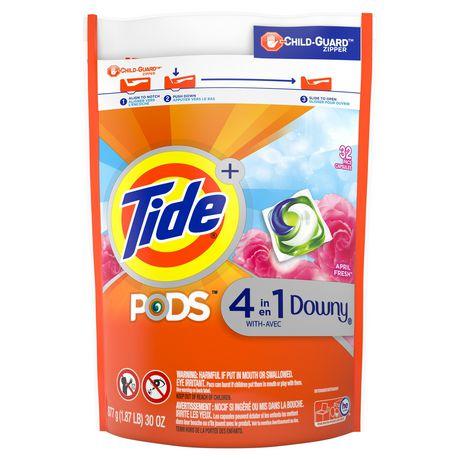Capsules de détergent liquide Tide PODS Plus Downy HE Turbo, April Fresh - image 1 de 6