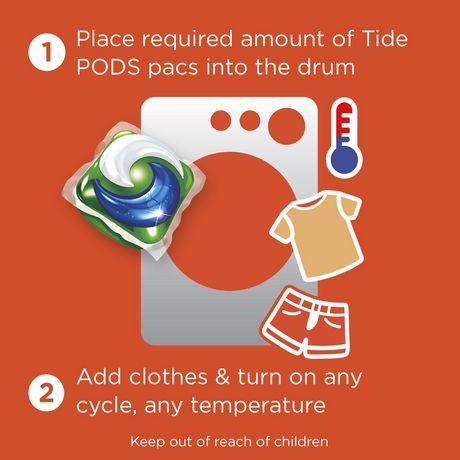Capsules de détergent liquide Tide PODS Plus Downy HE Turbo, April Fresh - image 3 de 6