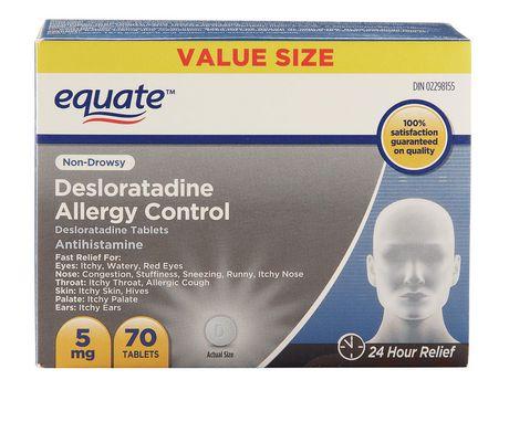Equate 5 mg Desloratadine Allergy Control Tablets - image 1 of 2