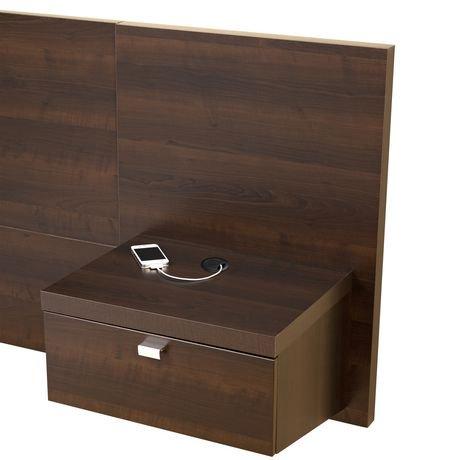 dossier de lit flottant de la s rie d cor 9 de prepac avec. Black Bedroom Furniture Sets. Home Design Ideas