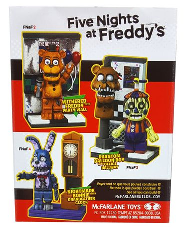 McFarlane Five Nights at Freddy's Micro Builds Grandfather Clock with  Nightmare Bonnie