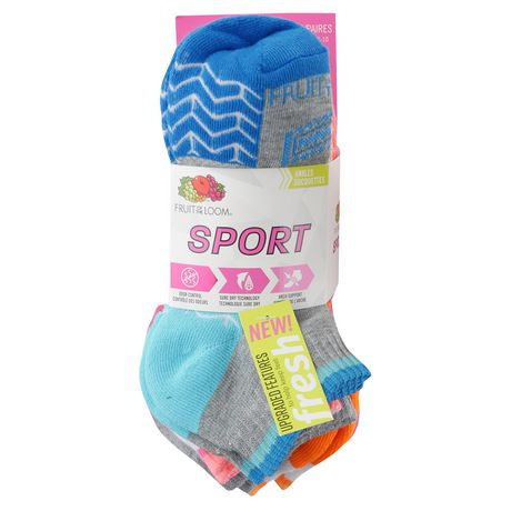 Fruit of the Loom Ladies Ankle Quater Socks- 6 Pack - image 1 of 3