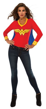Rubie's Wonder Woman Sporty T-Shirt Adult Costume - image 1 of 1