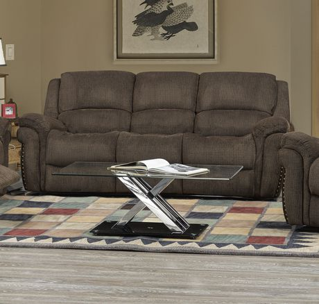 Brassex Inc Edward Recliner Sofa With Fold Down Tray