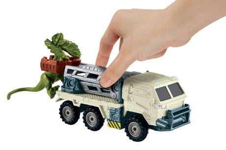 Matchbox Jurassic World Dino Transporters Dilopho-Loader Vehicle and Figure - image 3 of 8