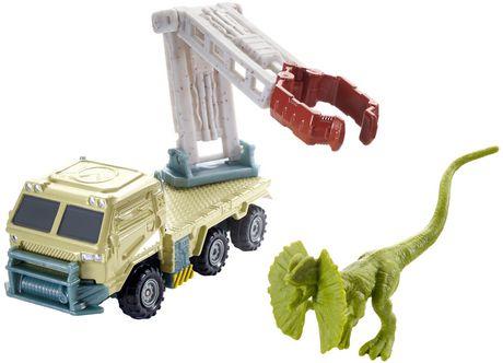 Matchbox Jurassic World Dino Transporters Dilopho-Loader Vehicle and Figure - image 8 of 8