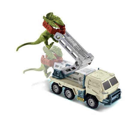 Matchbox Jurassic World Dino Transporters Dilopho-Loader Vehicle and Figure - image 4 of 8