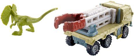 Matchbox Jurassic World Dino Transporters Dilopho-Loader Vehicle and Figure - image 7 of 8