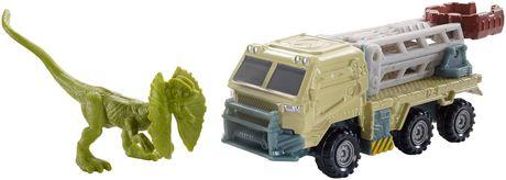 Matchbox Jurassic World Dino Transporters Dilopho-Loader Vehicle and Figure - image 6 of 8