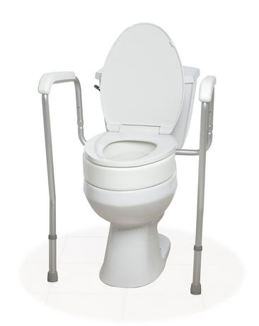 1med toilet seat adapter with 1med splash guard elongated for Chaise de toilette
