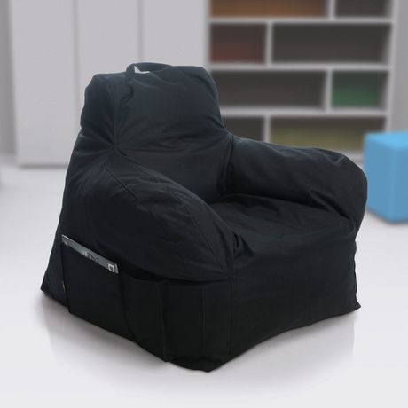 Lounge Amp Co Club Foam Chair Extra Large Black Walmart Ca