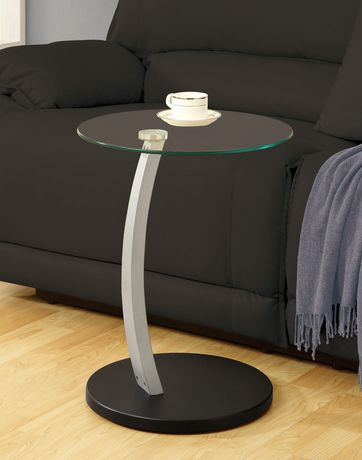 Monarch Specialties Black/Silver Accent Table - image 2 of 3