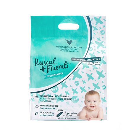 Rascal + Friends Sensitive Baby Wipes - image 1 of 8