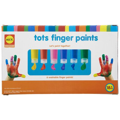 Peinture lavable pour le doigt tots d 39 alex toys walmart for Peinture lavable