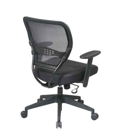 Office Star Professional AirGrid Back Manager 39 S Chair With Leather Seat