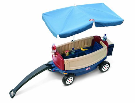 Little Tikes Deluxe Ride Amp Relax 174 Wagon With Umbrella