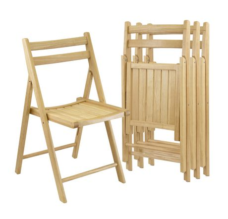 Winsome Natural Solid Wood Folding Chairs - image 1 of 1