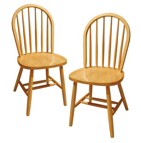 Delightful Winsome Windsor Natural Solid Wood Chair