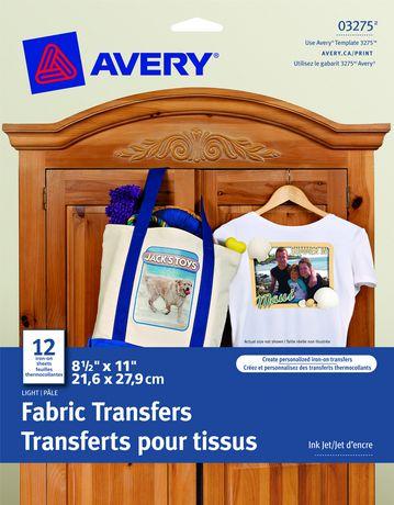 avery® t-shirt transfers | walmart canada