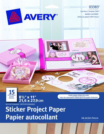 Avery sticker project paper walmart canada