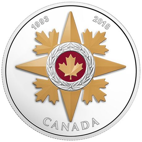 1 Oz Fine Silver Coin - Canadian Honours 25th Anniversary of The Star of Military Valour - Royal Canadian Mint - image 1 of 3