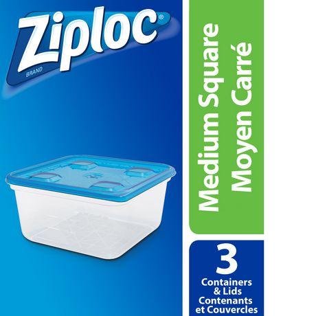 Ziploc conteneurs de stockage Carre Moyen 3 - image 1 de 4