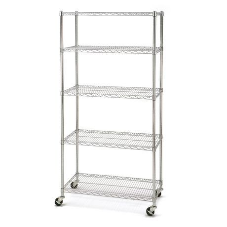 seville classics 5 shelf shelving with wheels walmart canada. Black Bedroom Furniture Sets. Home Design Ideas