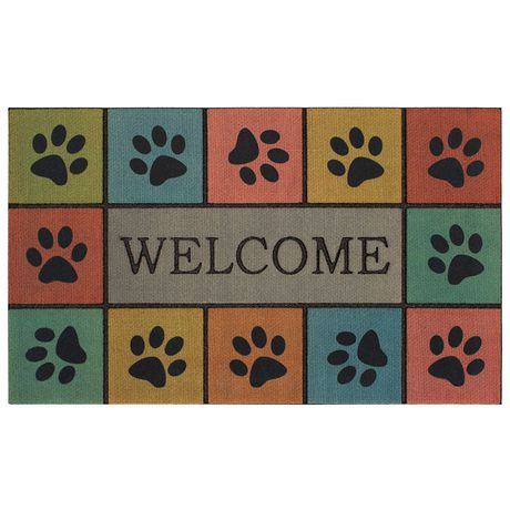 Welcome Paws Polyester Doormat - image 1 of 1