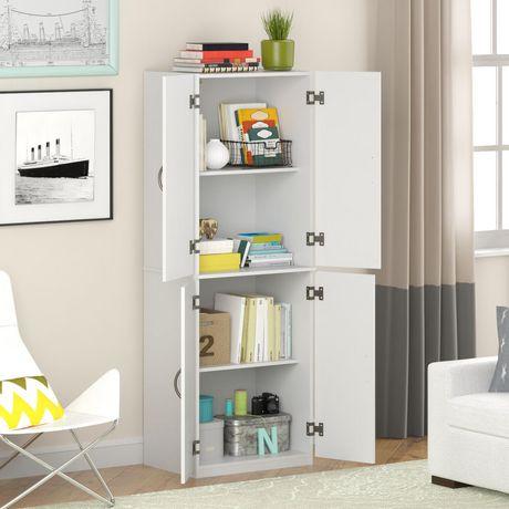 Dorel Avalon 4 Door Pantry Storage Cabinet Walmart Canada