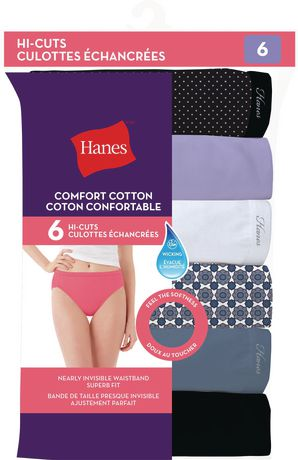 08f852c8dc34 Hanes Women's Hi-Cut Cotton Brief - Pack of 6 | Walmart Canada