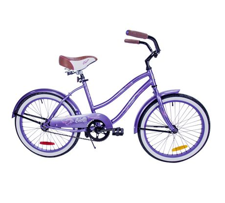 Purple and white cruiser bicycle for girls from Columbia