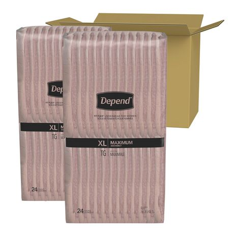 Depend FIT-FLEX Incontinence Underwear for Women, Maximum Absorbency, XL, Blush, 48 Count - image 2 of 3