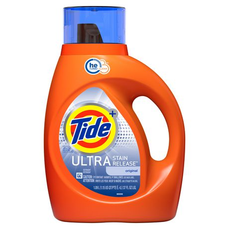 Tide Ultra Stain Release Original Scent High Efficiency Liquid Laundry Detergent - image 1 of 7