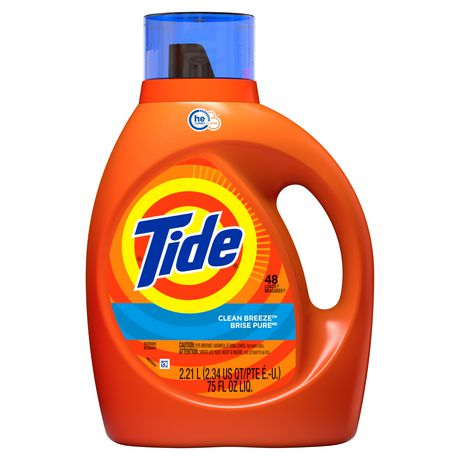 Tide High Efficiency Turbo Clean Breeze Scent Liquid Laundry Detergent - image 1 of 7