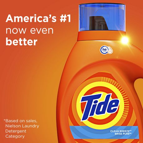 Tide High Efficiency Turbo Clean Breeze Scent Liquid Laundry Detergent - image 6 of 7