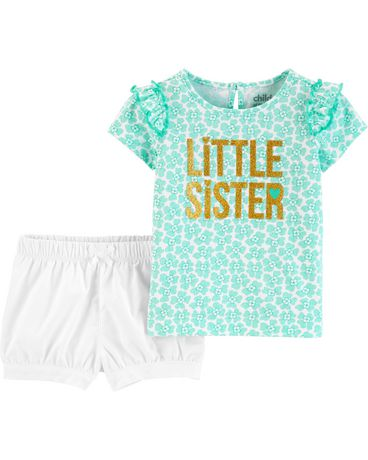 4f7146fd5 Child of Mine made by Carter s Newborn Girls 2pc set - little sister ...