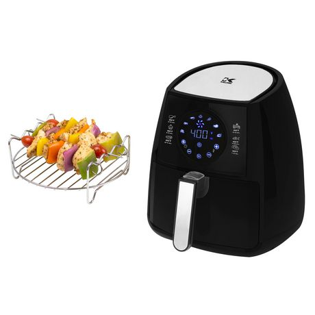 Kalorik Digital Air Fryer with Dual Layer Black