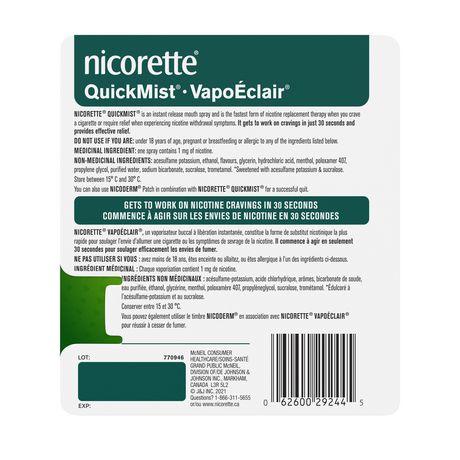 Vaporisateur Nicorette VapoÉclair, Menthe fraîche, 1 mg - image 4 de 4