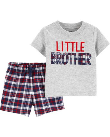 6372ec161 Child of Mine made by Carter's Toddler Boys 2pc set - little brother -  image 1 ...